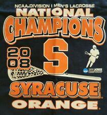 Syracuse Ncaa Div I Men'S National Champs Lacrosse 2008 T Shirt Xl