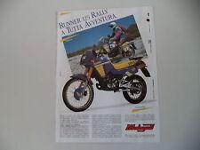 advertising Pubblicità 1988 MOTO MALAGUTI RUNNER 125 RALLY