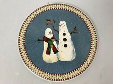 "Sakura Debbie Mumm Snowman Trivet 9 1/2"" Round Holiday Winter"