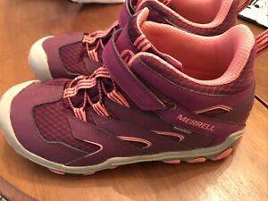 Women Merrell Chameleon 7 Pink Waterproof Boot Size US 6
