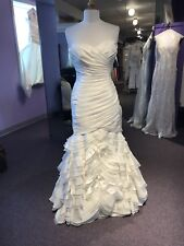 MIKAELLA Sample Wedding Gown #1850  Pearl SIZE 12