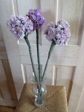 "Vtg Millinery Flower Collection Purple Lilac 5"" Allium 3pc on Long Stem Y232B"
