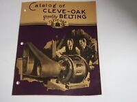 Vtg 1950 CLEVE-OAK Belting Company Catalog Industrial Leather Belts Cleveland OH