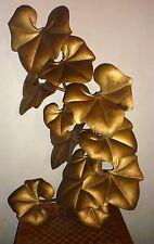 Superbe et grande applique métal doré feuilles art deco Jansen Tommaso barbi ...