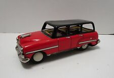 VINTAGE ASAHI TOY JAPAN 6 & 1/2 INCH TIN FRICTION STATION WAGON ***NICE***