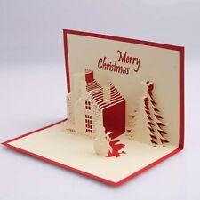 Christmas card 3 d with a house size 20x25