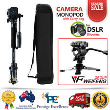Monopod Tripod For DSLR Camera Digital Camcorder Video Phone Travel Holder Black