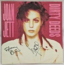 "Autographed/Signed Joan Jett ""Dirty Deeds"" 12-Inch Vinyl Single Kasim Sulton + 1"