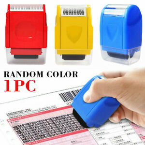 ID Theft Protector Stamp Roller Easy Guard Your Data Identity Privacy Security