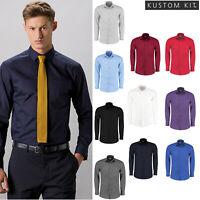 Kustom Kit Men's Poplin Long Sleeved Tailored Fit Shirt (KK142) - Formal Shirt