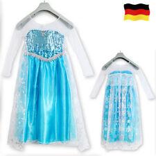 Mädchen Frozen Anna Elsa Kleid Prinzessin Cosplay Kostüm Party Dress Eiskönigin