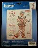 "Janlynn Counted Cross Stitch Kit 178-0501 ""Sassy Stitcher"" 11x14 unopened 14 ct"