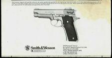 1982 Smith & Wesson #659 9mm Semi Auto Pistol Original Factory Owner's Manual