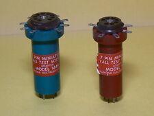 Pomona Model 1447 & 1449 Test Socket Extenders for 7 pin & 9 pin Tubes Free Ship