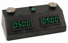 Chess Clock Timer ZMF-II Zmart Black with GREEN LED, FREE SHIPPING ALL USA