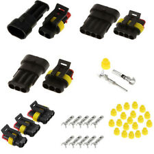 15 Kits Auto Car 2P 3P 4P Plastic Electrical Wire Connector Plug Waterproof 12V