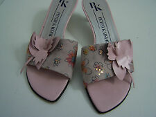Size 5 slip on,  floral low slim heel sandals from Peter Kaiser