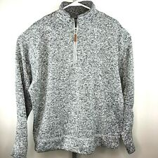 Victory Rugged Wear Men's Heather Knit Quarter Zip Pullover Gray w/Black  XL