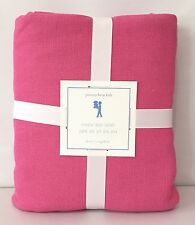 New Pottery Barn Kids Linen Twin Bedskirt, Bright Pink