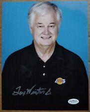 "Lakers legendary coach Tex Winter signed autographed rare 8x10"" photo - JSA auto"
