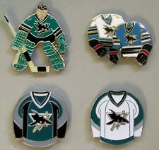 SAN JOSE SHARKS - SET OF 4 TOP QUALITY NHL LICENSED LAPEL PINS - ALL NEW!