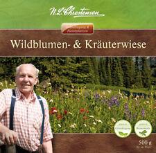 Wildblumen- und Kräuterwiese, 500 g, ca 50 m², Blumenwiese, Bienenweide 26930012