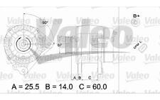 VALEO Alternador para SEAT IBIZA LEON TOLEDO CORDOBA VW GOLF POLO 437396