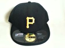 AUTHENTIC NEW ERA PITTSBURGH PIRATES FITTED BLACK BASEBALL CAP