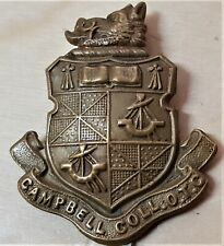 WW1 BRITISH ARMY UNIFORM CAP BADGE CAMPBELL COLLEGE OFFICER TRAINING CORPS