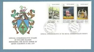 1977 PITCAIRN ISLANDS SILVER JUBILEE ROYAL COMMONWEALTH SOCIETY FDC