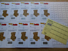 NAME THE TEDDY SCRATCH CARD ( 40 SPACES) COLOURED- RAISE FUNDS = SET OF 10