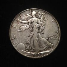 1938 D Walking Liberty Half Dollar Choice XF Extremely Fine 50c Cent Silver Type