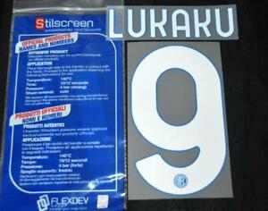 Official Inter Milan lukaku 9 Football Name/Number Set Home Serie a 2020/21