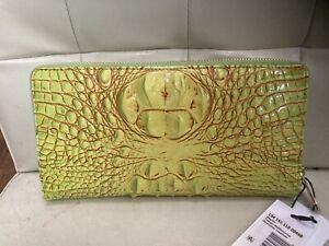 BRAHMIN Tango Skyler Clutch Wallet Melbourne Leather Yellow L9415111000498 NWT