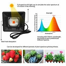 50W LED COB Plant Grow Light 300-830nm Waterproof Dual-use Indoor and Outdoor