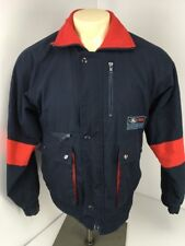 Vtg 80s Ford Truck Motorsport Racing Coat Blue Red Fleece Lined Jacket Sz L
