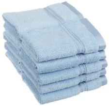 10-Pc Light Blue Superior Long Staple Cotton Face Washcloth Set 600 Gsm 1-Ply