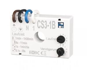 Zeitschalter für Ventilatoren Badlüfter Nachlaufrelais CS3-1B Unterputz