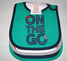 Just One You by Carter's Baby Boys' (3) Pk. Bibs On the Go Set New/One Size
