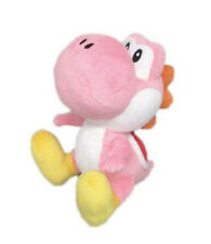 "Sale! Little Buddy 1218 Nintendo Super Mario 6"" Pink Yoshi Stuffed Plush Doll"