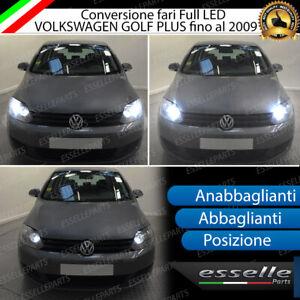 KIT FARI FULL LED VW GOLF PLUS ANABBAGLIANTI ABBAGLIANTI POSIZIONE LED CANBUS