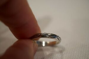 Vintage Silpada Sterling Silver Hand Stamped Band Ring Size 7