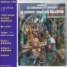 Compagnons du crépuscule, 3, Le dernier chant des Malaterre, Bourgeon, R 1994 EN