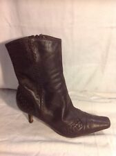 Principles Brown Ankle Leather Boots Size 4