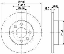 MINTEX MDK0175 BRAKE SET DISC BRAKES Front AUTO