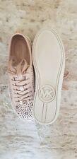 Michael Kors womans shoes trainers Pale Pink Keaton Size 4/37 Open Flower Detail