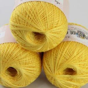 50gX3Balls Thread No.8 Cotton Crochet Yarn Craft Tatting Hand Knit Embroidery 15