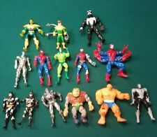 Lot of 14 Spiderman, Batman, various superhero action figure toys!