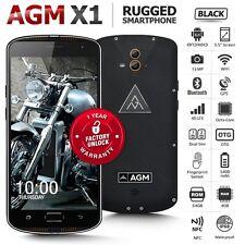 "Unlocked AGM X1 Black 5.5"" Phablet Dual SIM Octa Core IP68 4G Rugged Smartphone"