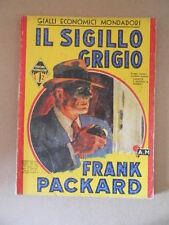 IL Sigillo Grigio Giallo Mondadori n°145 1939 [G731] BUONO
